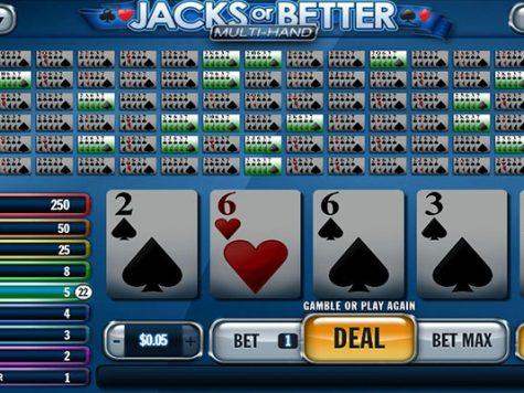 Multi hand Video Poker